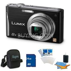"Lumix DMC-FH27 16MP 8x Zoom Black Digital Camera w/ 3.0"" Touchscreen 4GB Bundle"