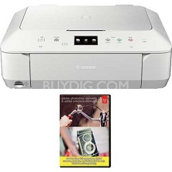 Wireless Color Photo All In One Printer (White) + Adobe PSE12