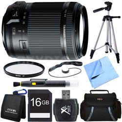 18-200mm Di II VC All-In-One Zoom Lens for Canon Mount 16GB Memory Card Bundle