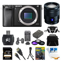 Alpha a6000 Black Interchangeable Lens Camera Body and 16-70mm Lens Bundle