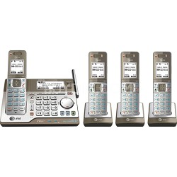 4 Handset Connect to Cell Answering System w/ Dual Caller ID