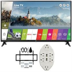 "43"" Class Full HD 1080p Smart LED TV 2017 Model 43LJ5500 w/ Wall Mount Bundle"