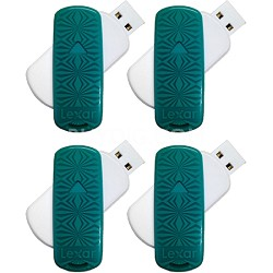 16 GB JumpDrive S33 USB 3.0 Flash Drive (Teal- Kaleidoscope) 4-Pack (64GB Total)