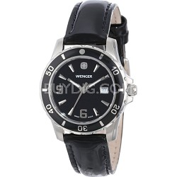 Ladies' Sport Watch - Black Dial/Black Patent Leather Strap