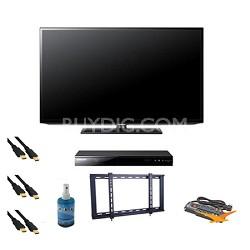 UN40EH5000 40 inch 60hz LED HDTV Blu Ray Bundle