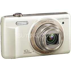 VR-340 16MP 10x Opt Zoom 3-inch LCD Digital Camera - White
