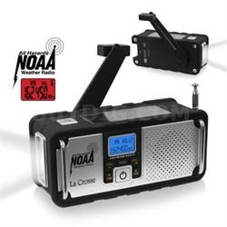 Solar Hand Crank Weather Radio - 810-106