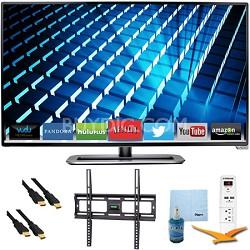 "M322i-B1 - 32"" Ultra-Slim LED 1080p 120Hz Smart HDTV Plus Mount & Hook-Up Bundle"