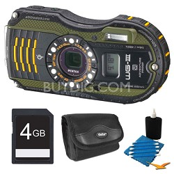 WG-3 Green Digital Camera 4GB Bundle