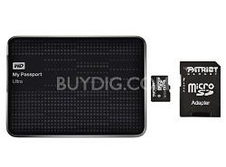 My Passport Ultra 1TB USB 3.0 HD Black + Patriot 32g Micro SD