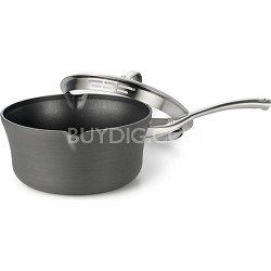 3.5-qt. Contemporary Nonstick Pour and Strain Sauce Pan with Cover - 1876840