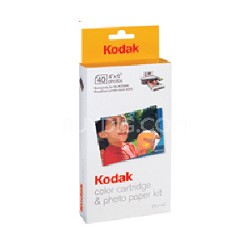 40-pack Color Cartridge/Photo Paper Kit for Printer Docks