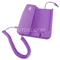 Handheld Phone and Desktop Dock for iPhone,Ipad & Android - Purple