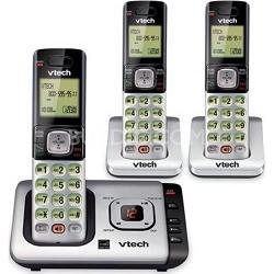 CS6729-3 DECT 6.0 3 Handset Cordless Phone Caller ID/Call Waiting - Black/Grey