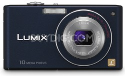 DMC-FX37A - Stylish Compact 10 Megapixel Digital Camera (Blue) - OPEN BOX