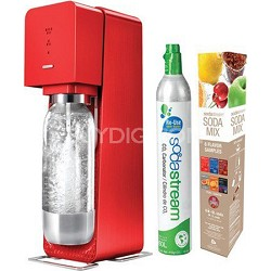 Source Metal Edition Soda Maker Kit - Red