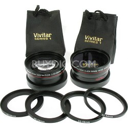 2.5X Telephoto and 0.45X Super Wide Angle high definition lens set
