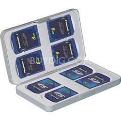 Aluminum Hard Case for 8 SD Memory Cards