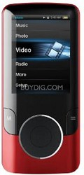 "MP3 Video Player with 2"" Display, 4 GB Flash Memory & FM (Red)"