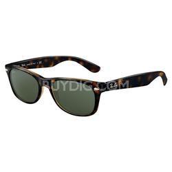 New Wayfarer RB2132 Sunglasses - Tortoise Frames/Green Lens 52mm
