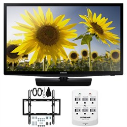 UN28H4500 28-inch HD 720p Smart LED TV CMR 120 Plus Tilt Mount & Hook-Up Bundle