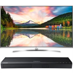 "60"" Super Ultra HD 4K Smart LED TV w/webOS 3.0 - 60UH8500 w/ Samsung Disc Player"
