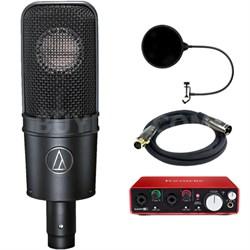 Cardioid Condenser Microphone w/ Interface Bundle