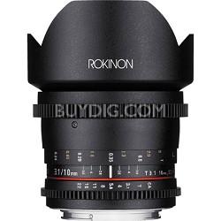 10mm T3.1 Cine Wide Angle Lens for Nikon DX