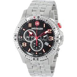 Men's Squadron Chrono Watch - Black Dial/Stainless Steel Bracelet