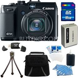 "Powershot G1X 14.3 MP Digital Camera 1080p Video 3.0"" Vari-Angle LCD 16GB Bundle"
