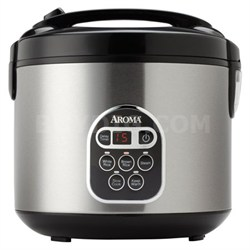 20 Cup Stainless Steel Digital Rice Cooker, Slow Cooker & Food Steamer