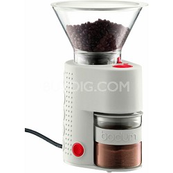 Bistro Electric Burr Coffee Grinder - White