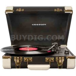 Executive Portable USB Turntable w/ Incl. Editing Software CR6019A-BK (Black)