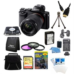Alpha 7K a7K Digital Camera 64 GB SDHC Card Battery Bundle