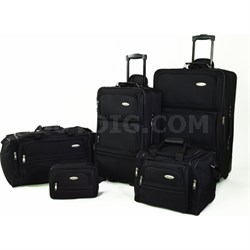 5 Piece Nested Luggage Set (Black) - OPEN BOX
