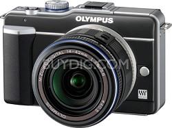 PEN E-PL1 with 14-42mm Lens Digital SLR Kit (Black)
