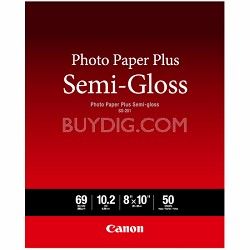 "Photo Paper Plus Semi-Gloss 8"" x 10"" (50 Sheets) (SG-201 8X10) (1686B062)"