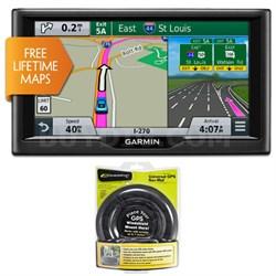 "nuvi 67LM 6"" Essential Series 2015 GPS Navigation System w Lifetime Maps Bundle"