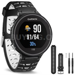 Forerunner 630 GPS Smartwatch - Black and White - Black/White Watch Band Bundle