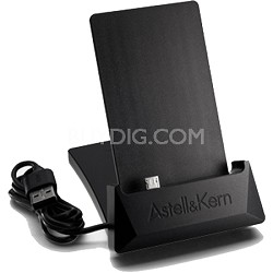 Aluminum USB Cradle and Docking Station for AK100/AK120/AK120 TITAN DACs (Black)