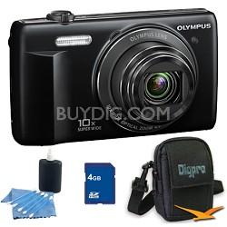 4 GB Kit VR-340 16MP 10x Opt Zoom 3-inch LCD Digital Camera - Black