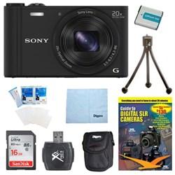Cyber-shot DSC-WX350 Digital Camera Black 16GB Kit