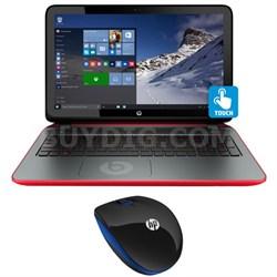 """15-p390nr 15.6"""" Touchscreen Beats AMD Quad-Core A10-7300 Laptop & Mouse Bundle"""