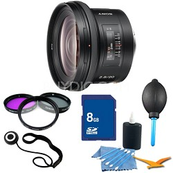 SAL20F28 - 20mm f2.8 Wide-Angle A-Mount Lens Essentials Kit