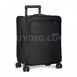 "Baseline 21"" International Carry-On Luggage Spinner, Black U121CXSPW-4"