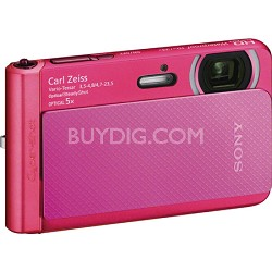 DSC-TX30/B Pink 18.2MP Water, Dust, Freeze, and Shockproof Digital Camera