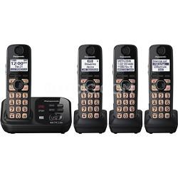 KX-TG4734B Dect 6.0 4-Handset Landline Telephone