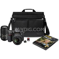 D7100 DX-format Black Digital SLR Camera Kit with 18-140mm VR Lens 55-300 kit
