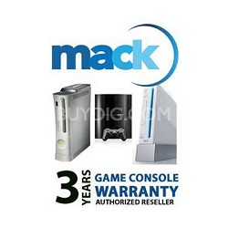 3 Year Extended Warranty on Gaming Consoles up to $500 *1089*