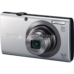 PowerShot A2300 16MP Silver Digital Camera 5x Optical Zoom 720p HD Video